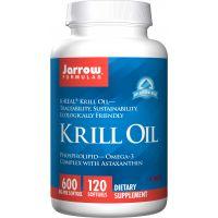 Krill Oil - Olej z Kryla 600 mg i Astaksantyna 120 mg (120 kaps.) Jarrow Formulas