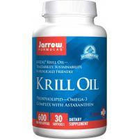 Krill Oil - Olej z Kryla 600 mg i Astaksantyna 120 mg (30 kaps.) Jarrow Formulas