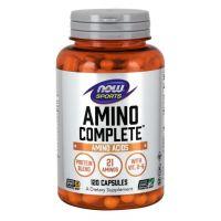 Amino Complete - Kompleks Aminokwasów i Proteiny (120 kaps.) Now Foods