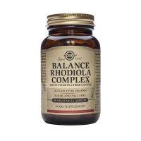 Balance Rhodiola Complex - Różeniec Górski + Żeń-Szeń syberyjski + Rumianek + Witainy i Minerały (60 kaps.) Solgar