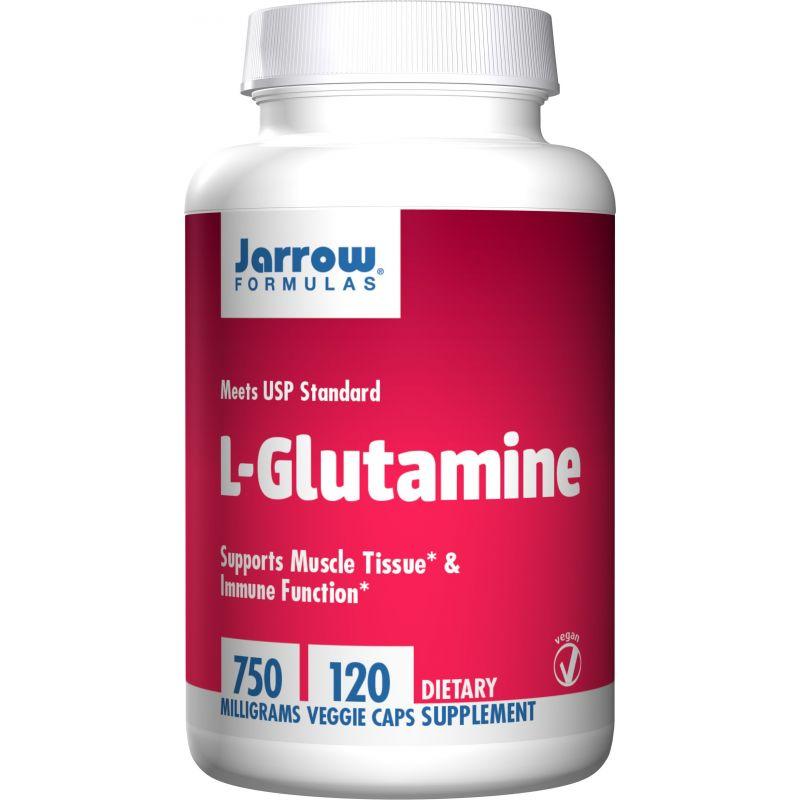 L-Glutamina 750 mg (120 kaps.) Jarrow Formulas