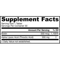Alpha Lipoic Sustain - Kwas Alfa Liponowy 300 mg + Biotyna 330 mcg (30 tabl.) Jarrow Formulas