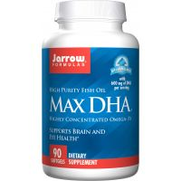 Max DHA - DHA Kwas Dokozaheksaenowy 300 mg (90 kaps.) Jarrow Formulas
