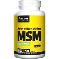 MSM 1000 mg - OptiMSM Metylosulfonylometan (200 kaps.) Jarrow Formulas