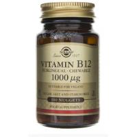 Vitamin B12 - Witamina B12 /cyjanokobalamina/ do ssania 1000 mcg (100 tabl.) Solgar