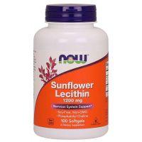 Lecytyna słonecznikowa 1200 mg non GMO (100 kaps.) NOW Foods