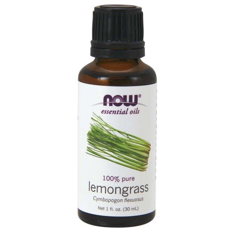 100% Olejek z Trawy Cytrynowej - Lemongrass (30 ml) NOW Foods