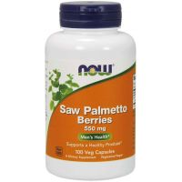 Saw Palmetto Berries - Palma Sabalowa (jagody) 550 mg (100 kaps.) NOW Foods