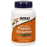 Enzym Papaina 2000 USP - Papaya Enzymes (180 tabl.) NOW Foods