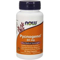 Pycnogenol - Ekstrakt z kory francuskiej Sosny Morskiej 60 mg (50 kaps.) NOW Foods