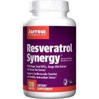 Resveratrol Synergy - Resveratrol + Zielona Herbata + ekstrakt z Winogron + Trans-Pterostilben (120 tabl.) Jarrow Formulas