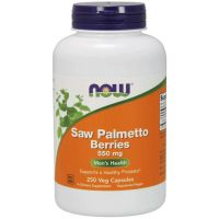 Saw Palmetto Berries - Palma Sabalowa (jagody) 550 mg (250 kaps.) NOW Foods