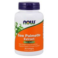 Saw Palmetto Extract - Palma Sabalowa + Olej z nasion dyni + Cynk (90 kaps.) NOW Foods