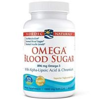 Omega Blood Sugar - Omega 3 + Kwas Alfa Liponowy + Chrom (60 kaps.) Nordic Naturals