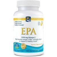 EPA Omega 3 605 mg - Olej rybi o smaku cytrynowym (60 kaps.) Nordic Naturals