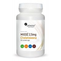 Miedź chelatowana 2,5 mg - Chelat Miedzi (100 tabl.) Aliness