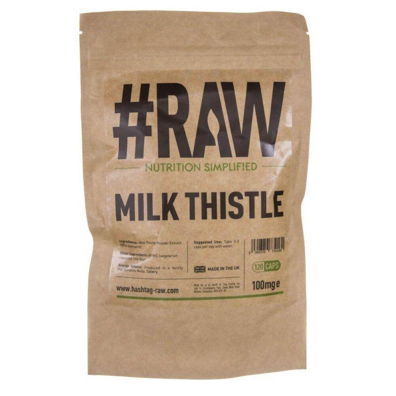 Milk Thistle - Ostropest Plamisty 100 mg Sylimaryna 80% (120 kaps.) RAW series