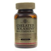 Chelated Solamins Multimineral - Sole Mineralne Chelaty (90 tabl.) Solgar