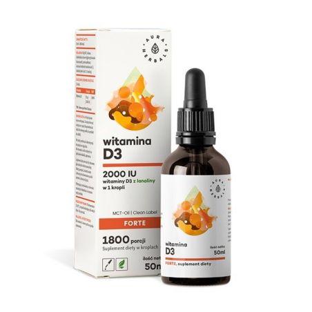 Witamina D3 Forte w kroplach (50 ml) Aura Herbals