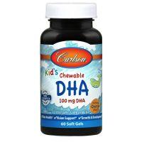 Kids Chewable DHA 100 mg - DHA dla Dzieci (60 kaps.) Carlson