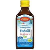 Kids The Very Finest Fish Oil - DHA i EPA dla dzieci o smaku cytrynowym (200 ml) Carlson