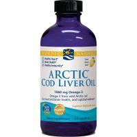 Arctic Cod Liver Oil - arktyczny Olej z Wątroby Dorsza o smaku cytrynowym (237 ml) Nordic Naturals