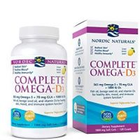 Complete Omega-D3 - Omega 3 + GLA + Witamina D3 o smaku cytrynowym (120 kaps.) Nordic Naturals