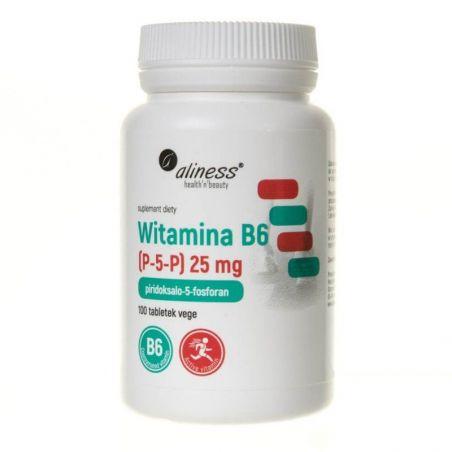 Witamina B6 (P-5-P) 25 mg (100 tabl.) Aliness