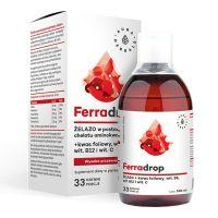 Ferradrop - Żelazo z Wit. C i Kwasem Foliowym (500 ml) Aura Herbals