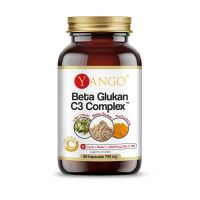 Aktywny Beta Glukan + Kurkuma + Liść Oliwny + Cynk + Selen- Beta-Glukan C3 Complex (60 kaps.) Yango