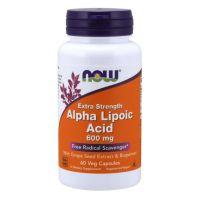 ALA - Kwas Alfa Liponowy 600 mg + Ekstrakt z Winogron + Bioperyna (60 kaps.) NOW Foods