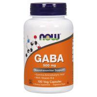 GABA - Kwas Gamma Aminomasłowy 500 mg + Witamina B6 (100 kaps.) NOW Foods