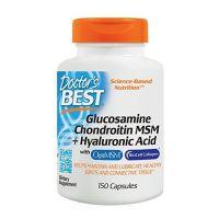 Glukozamina, Chondroityna, MSM i Kwas Hialuronowy (150 kaps.) Doctor's Best