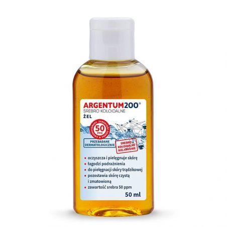 Żel do twarzy i rąk Argentum200 Srebro Koloidalne 50 ppm (50 ml) Aura Herbals