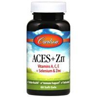 ACES + Zn - Witamina A + Witamina C + Witamina E + Selen + Cynk (60 kaps.) Carlson
