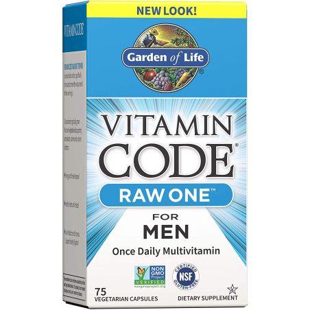 Vitamin Code Raw One for Men - Zestaw Witamin i Minerałów dla Mężczyzn (75 kaps.) Garden of Life