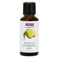 Lemon & Eucalyptus Blend - Olejek Cytrynowy, Olejek Eukaliptusowy i Olejek z Trawy Cytrynowej (30 ml) NOW Foods