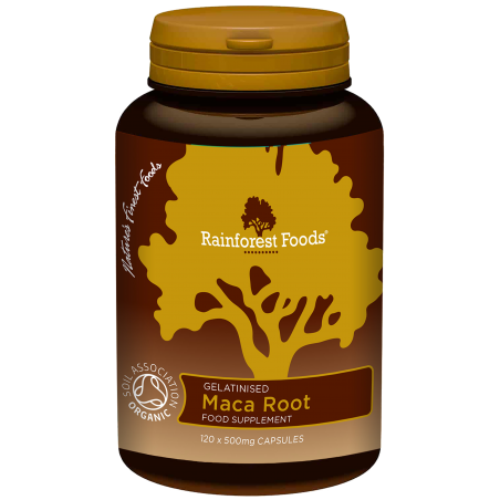 BIO korzeń Maca (120 kaps.) Rainforest Foods