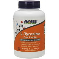 L-Tyrozyna (113 g) NOW Foods