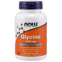 Glycine - Glicyna 1000 mg (100 kaps.) NOW Foods