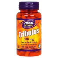 Tribulus 500 mg - ekstrakt standaryzowany na 45% Saponin (100 kaps.) NOW Foods