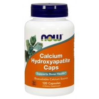 Calcium Hydroxyapatite Caps - Hydroksyapatyt Wapnia (120 kaps.) NOW Foods