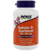 Indolo-3-karbinol (I3C) 200 mg (60 kaps.) NOW Foods