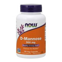 D-mannoza 500 mg (120 kaps.) NOW Foods