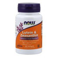 Luteina 25 mg i Zeaksantyna 5 mg (60 kaps.) NOW Foods