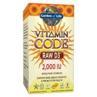 Vitamin Code RAW D3 - Witamina D3 2000 IU (60 kaps.) Garden of Life