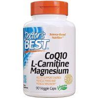 Koenzym Q10 + L-Karnityna + Magnez (90 kaps.) Doctor's Best