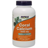 Wapno Koralowe (Coral Calcium) - Wapno z Koralowca 1000 mg (250 kaps.) NOW Foods
