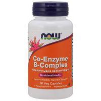 Co-Enzyme B-Complex - Kompleks Witamin z grupy B + Kwas alfa liponowy + Koenzym Q10 (60 kaps.) NOW Foods