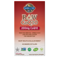 RAW CoQ10 - Koenzym Q10 200 mg (60 kaps.) Garden of Life